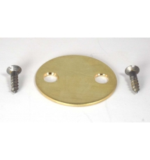 Stock disc, no marks 2 hole , brass.