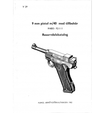 Spare parts catalogue pistol m/40